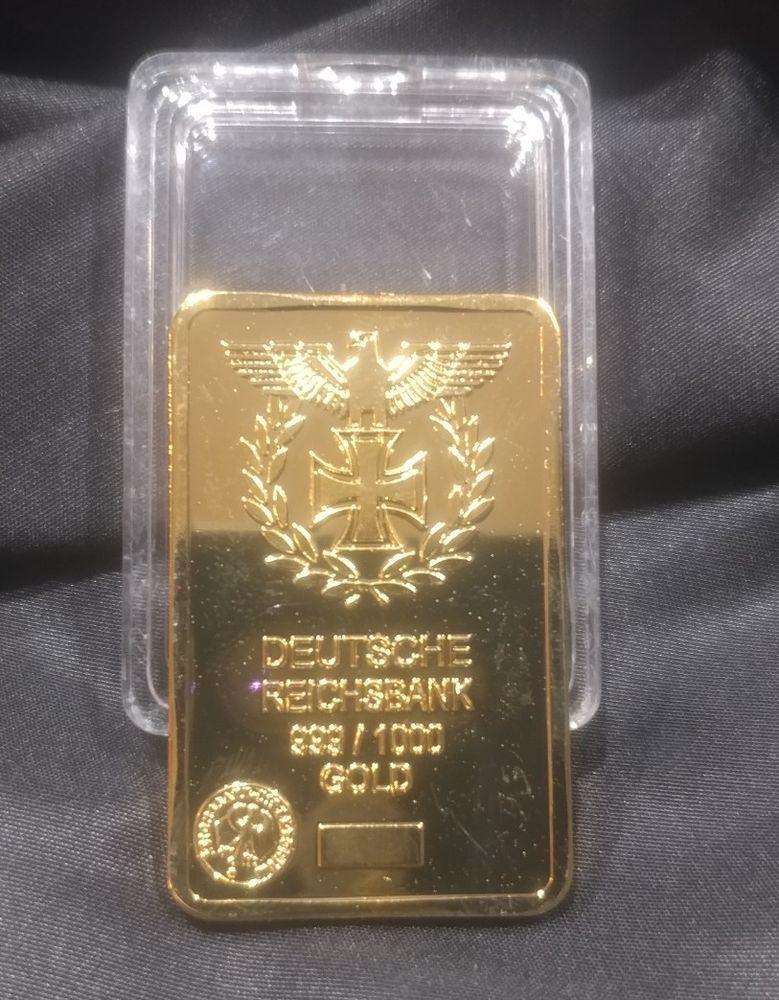 Deutsche Reichbank 999 1000 Gold Bar 1 Oz