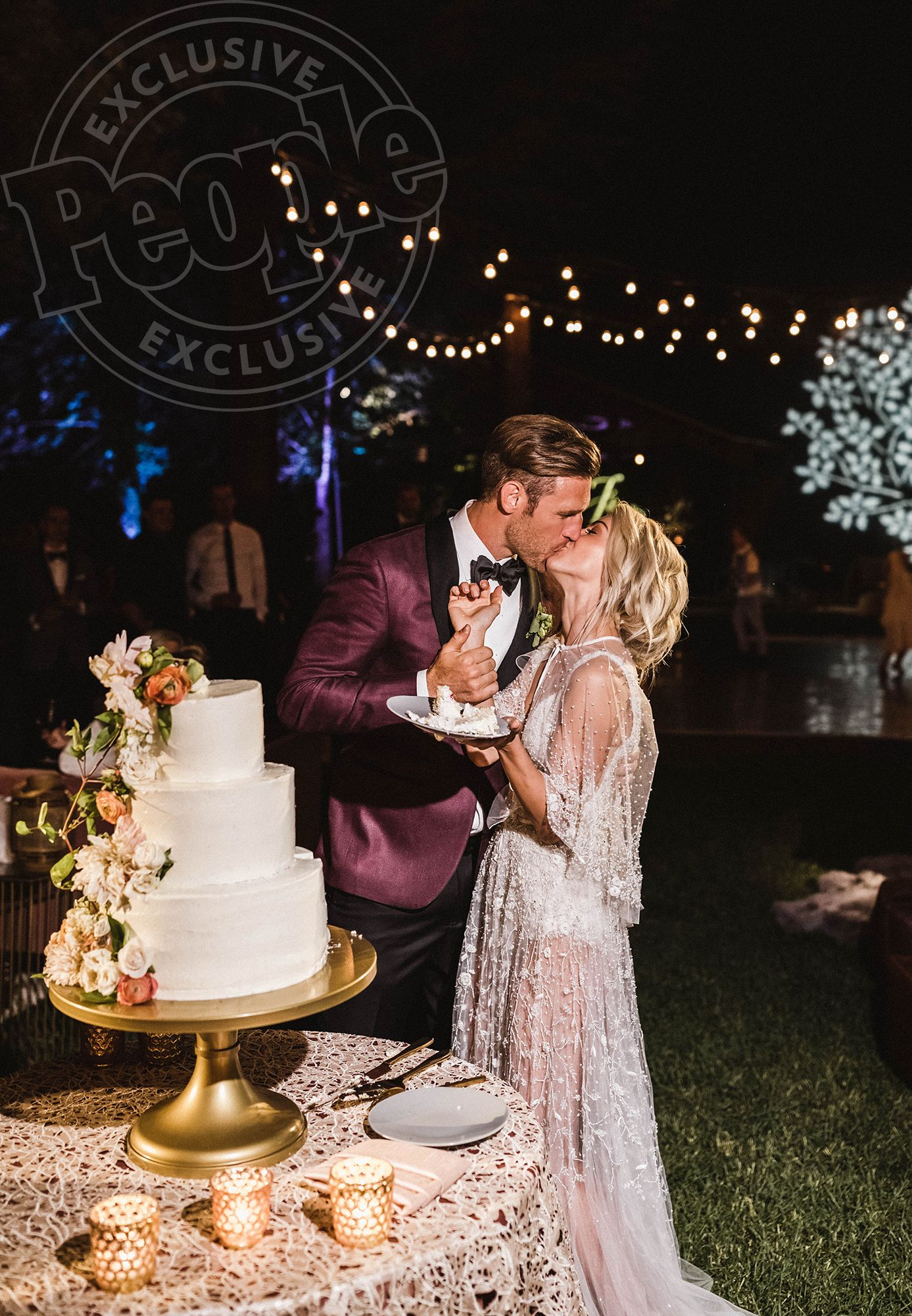 Inside Julianne Hough S Perfect Wedding To Brooks Laich Exclusive Photos Sheer Wedding Dress Wedding Celebrity Weddings