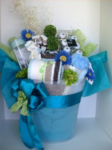 How To Make A Diaper Cake: A Gift Basket