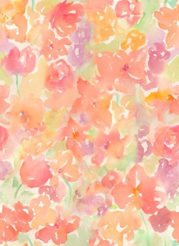 Pinterest Selinakumar Watercolor Pattern Watercolor Flowers