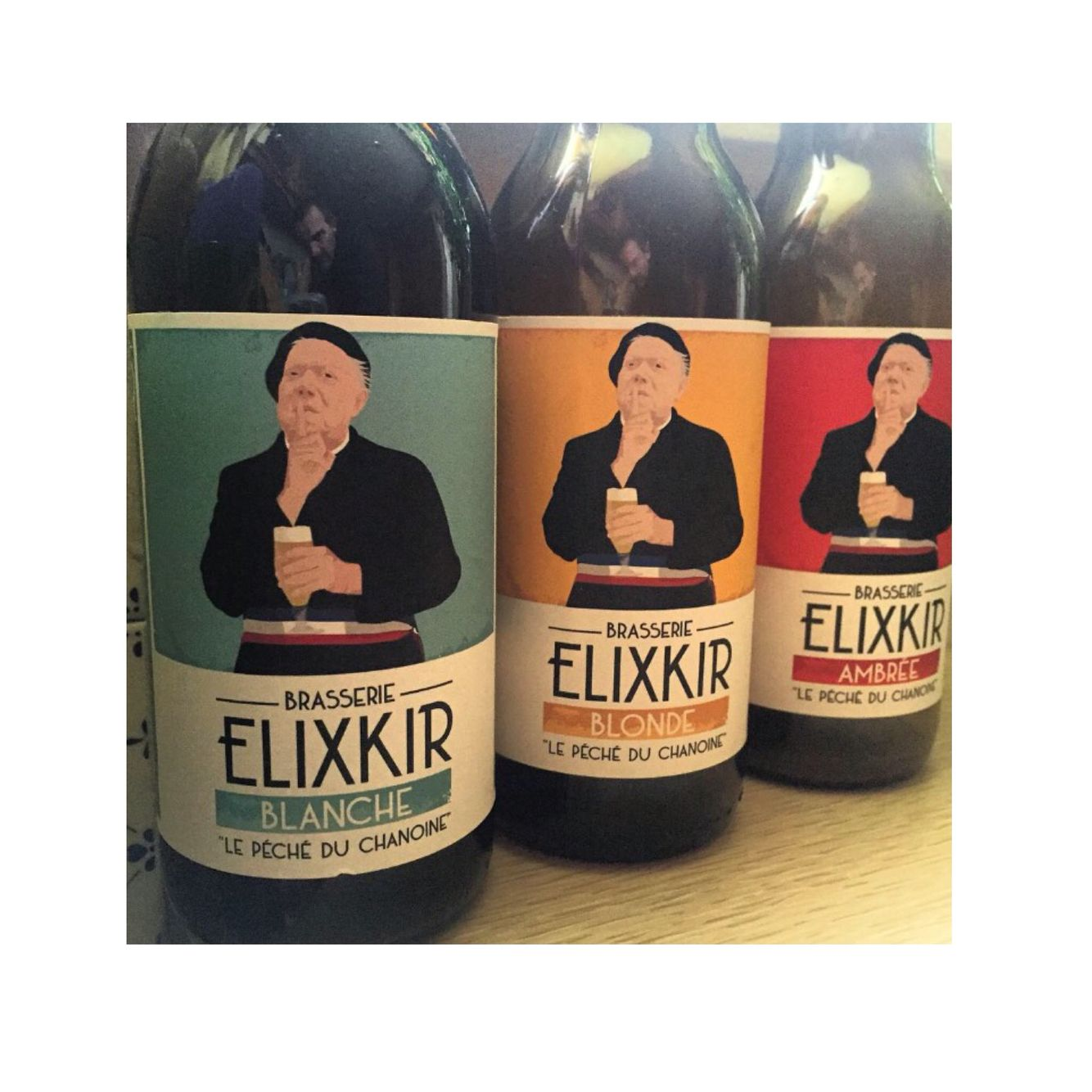 Elixkir new frenchcraft ipa beer from Dijon, Burgundy, with a nice label