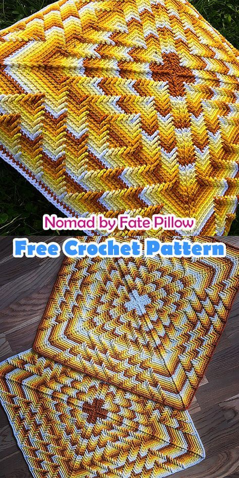 Nomad by Fate Pillow Free Crochet Pattern | Häkelideen | Pinterest ...