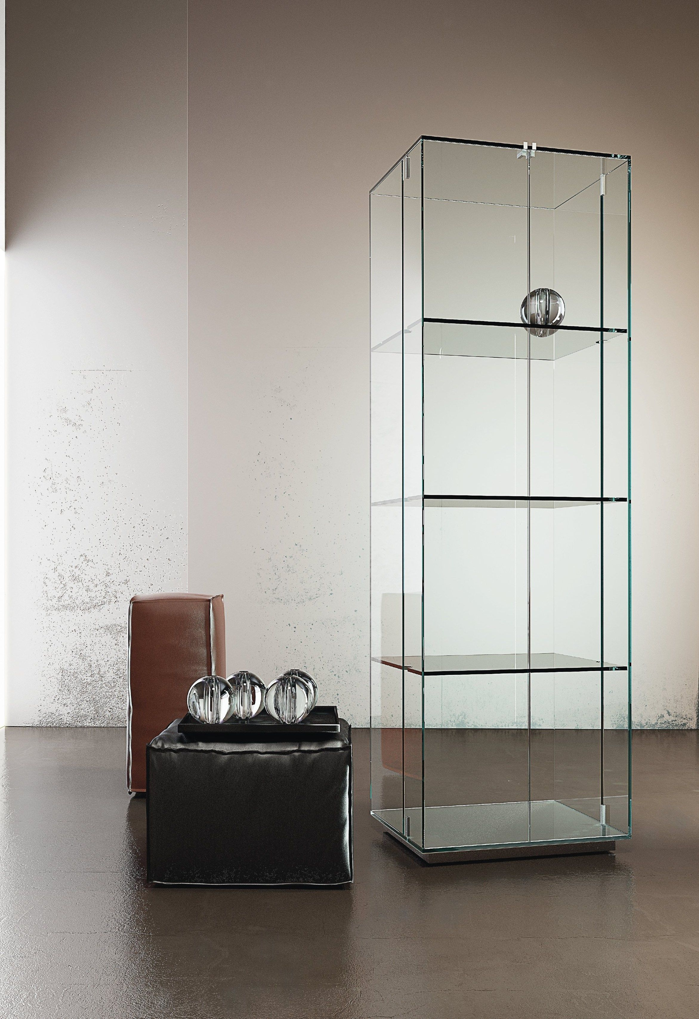 Tower Crystal Display Cabinet By Ssi Design