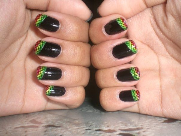 Reggae Nail Art Design