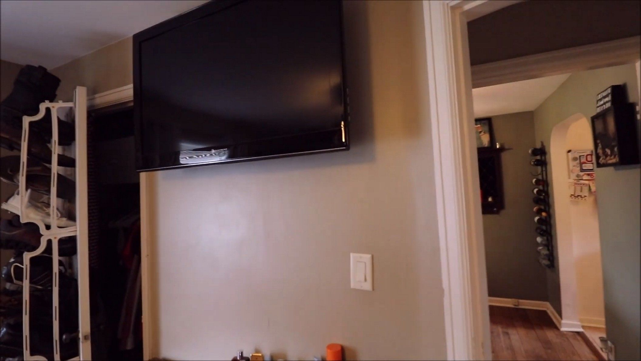 High Mounted Tv In A Bedroom Arrangement Idea Check More At Https