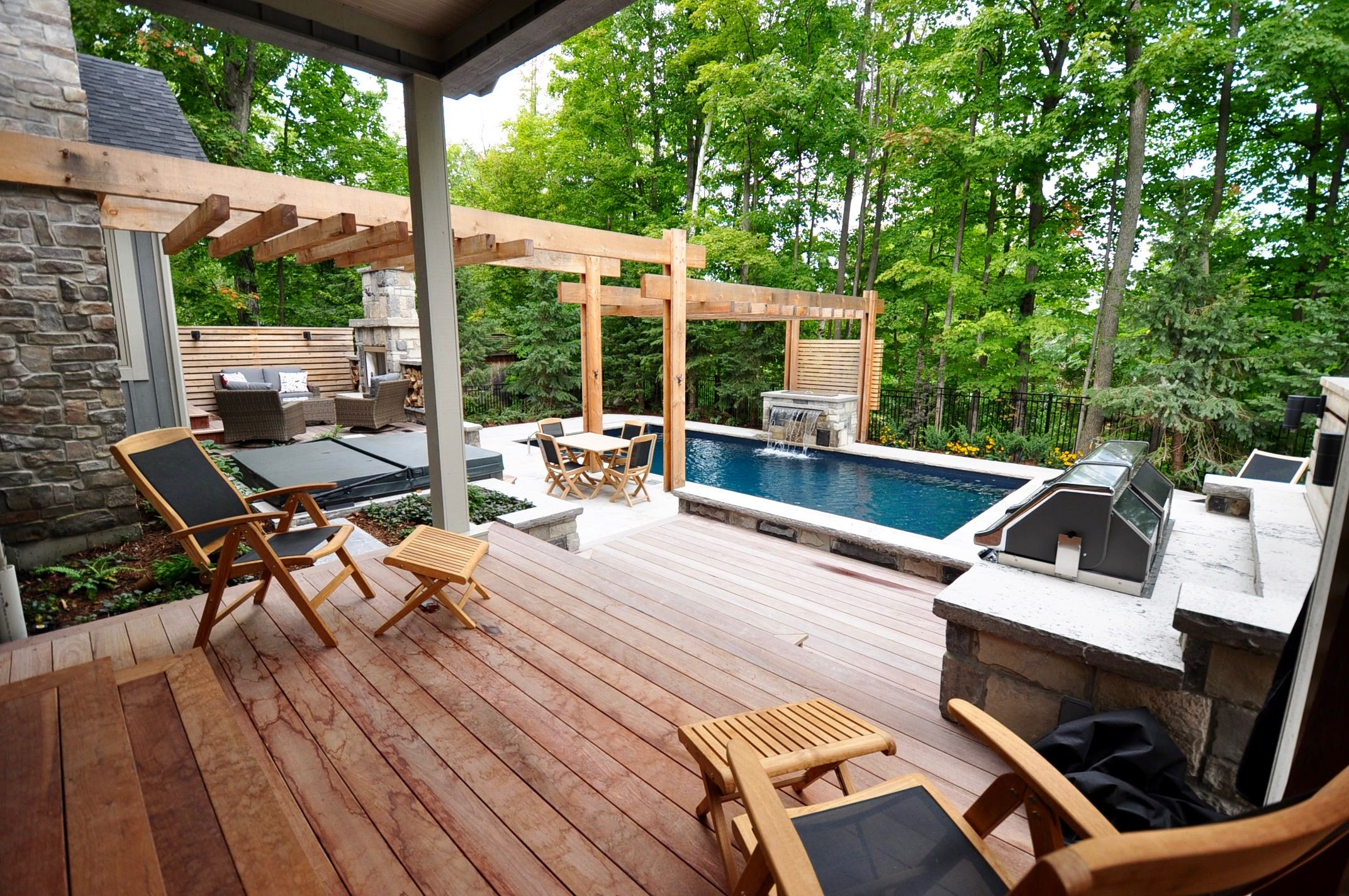 Teak Chairs Outside Kitchen Door Invite You To Sit And Enjoy The Outdoor Living Space Backyard Spaces Outdoor Living Space Outdoor Living