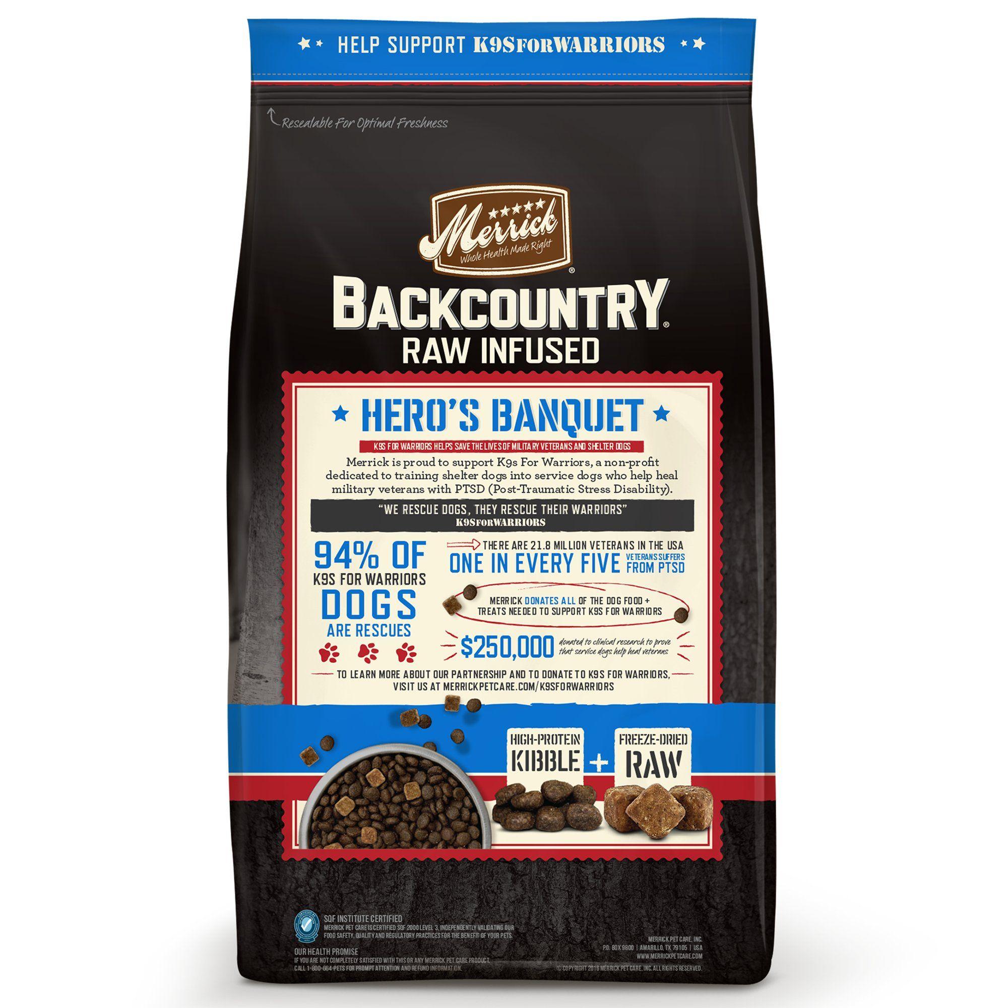 Merrick Backcountry Grain Free Hero's Banquet Dry Dog Food