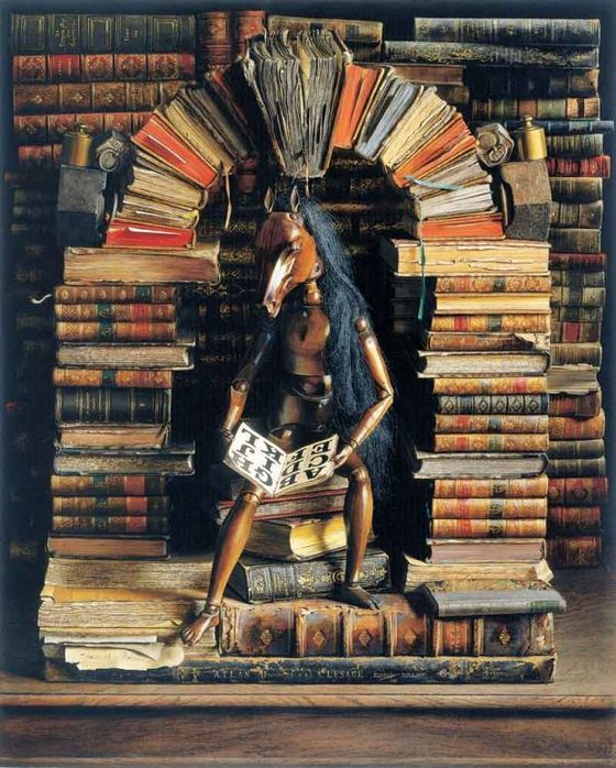 wonderful trompe l'oeil painting by jacques poirier