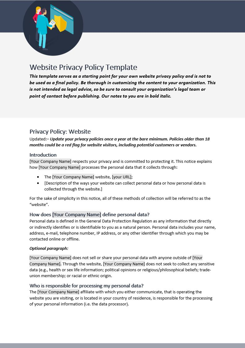 The Wonderful Company Policy Template And Procedures South Africa Word Car In Credit Card Privacy Poli In 2020 Policy Template Professional Templates Business Template