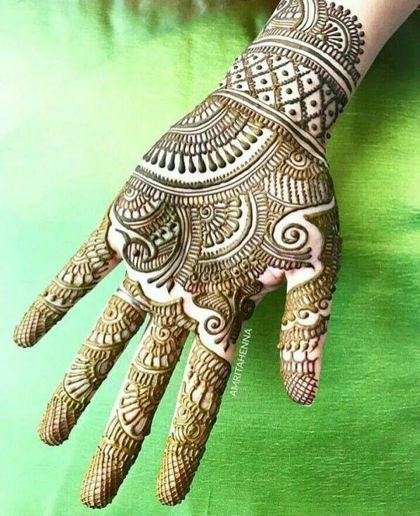 mehndi designs for front hands full