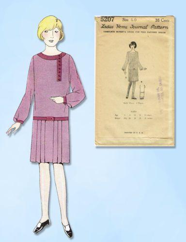 1920s VTG Ladies Home Journal Sewing Pattern 6186 FF Misses Flapper Dress Sz 36B