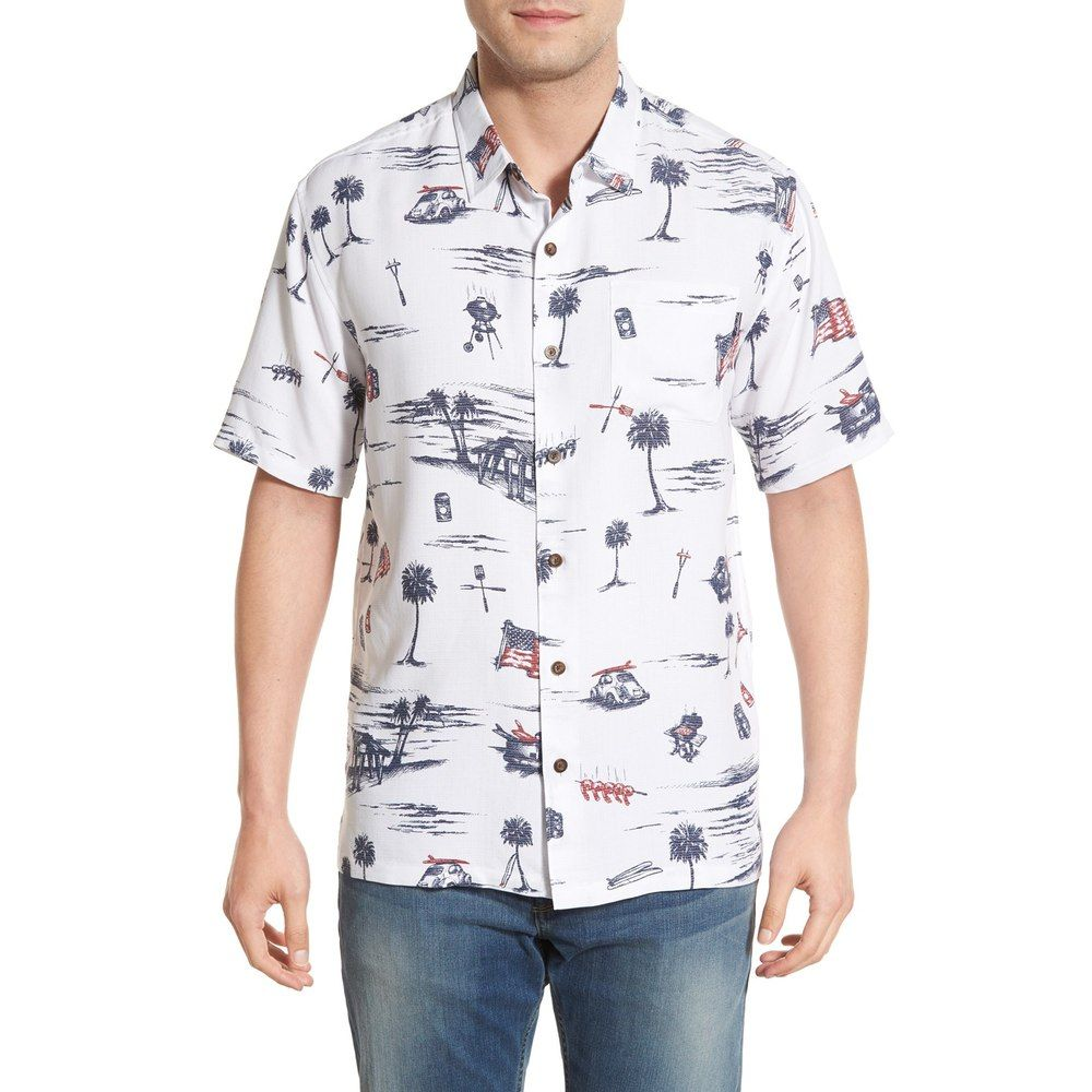 Jack O Neill Independence Regular Fit Print Camp Mens Hawaiian Shirt Mens Hawaiian Shirts Camping Shirt Hawaiian Shirt