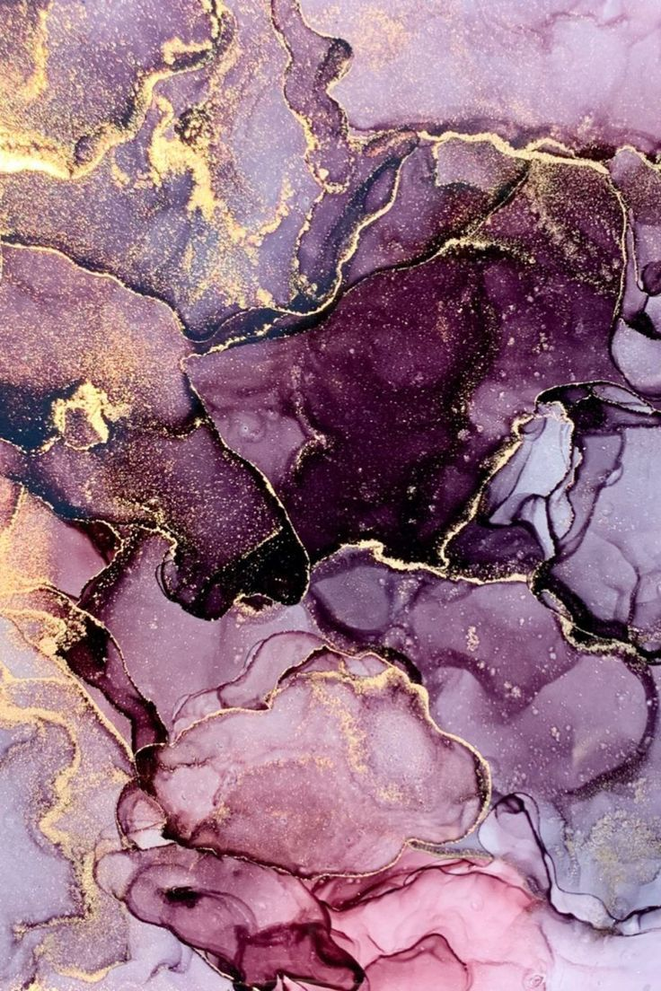 shades of purple and gold smokey marble