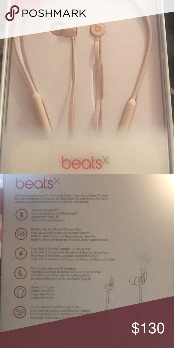 Beats X Wireless Headphones Wireless Headphones Only Used Once Perfect Condition Matte Gold Price Negotiable Other Wireless Headphones