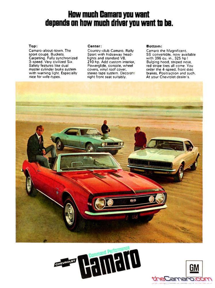 1971 CHEVROLET CAMARO Z28 Red Sports Car With Black Stripes VINTAGE AD