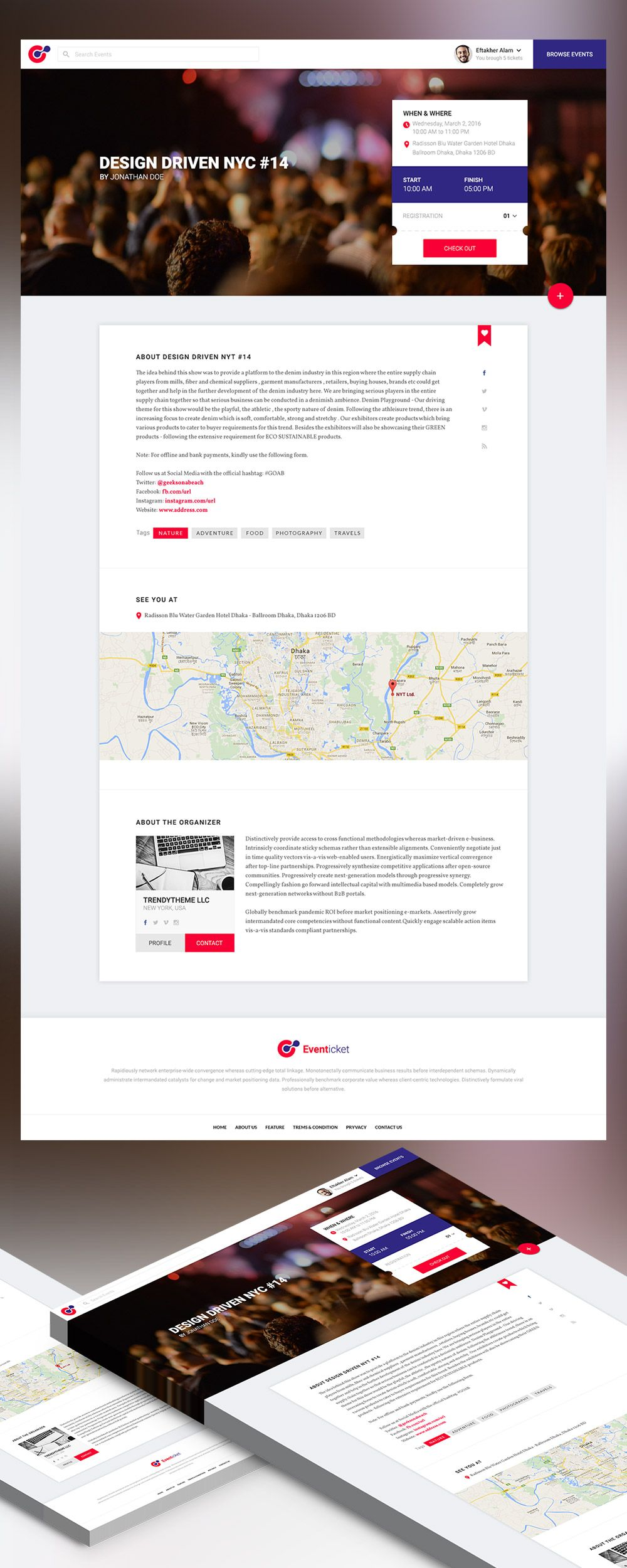 Nice Event Landing Page Template Free PSD Download Event Landing - Event landing page template free