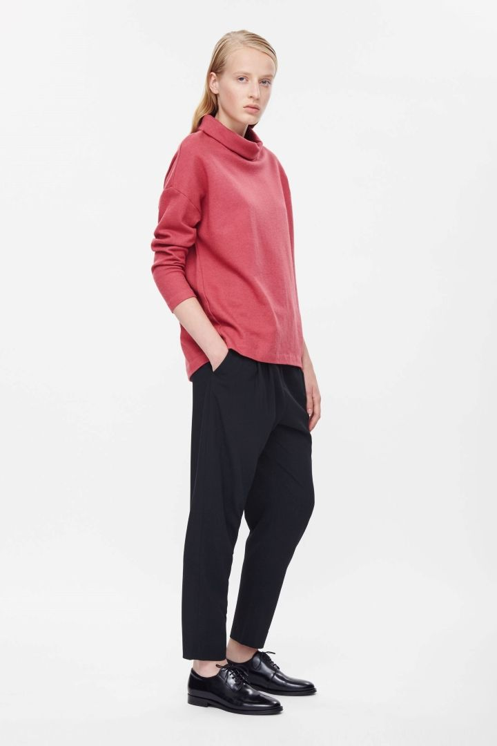 COS+|+Oversized+roll-neck+top