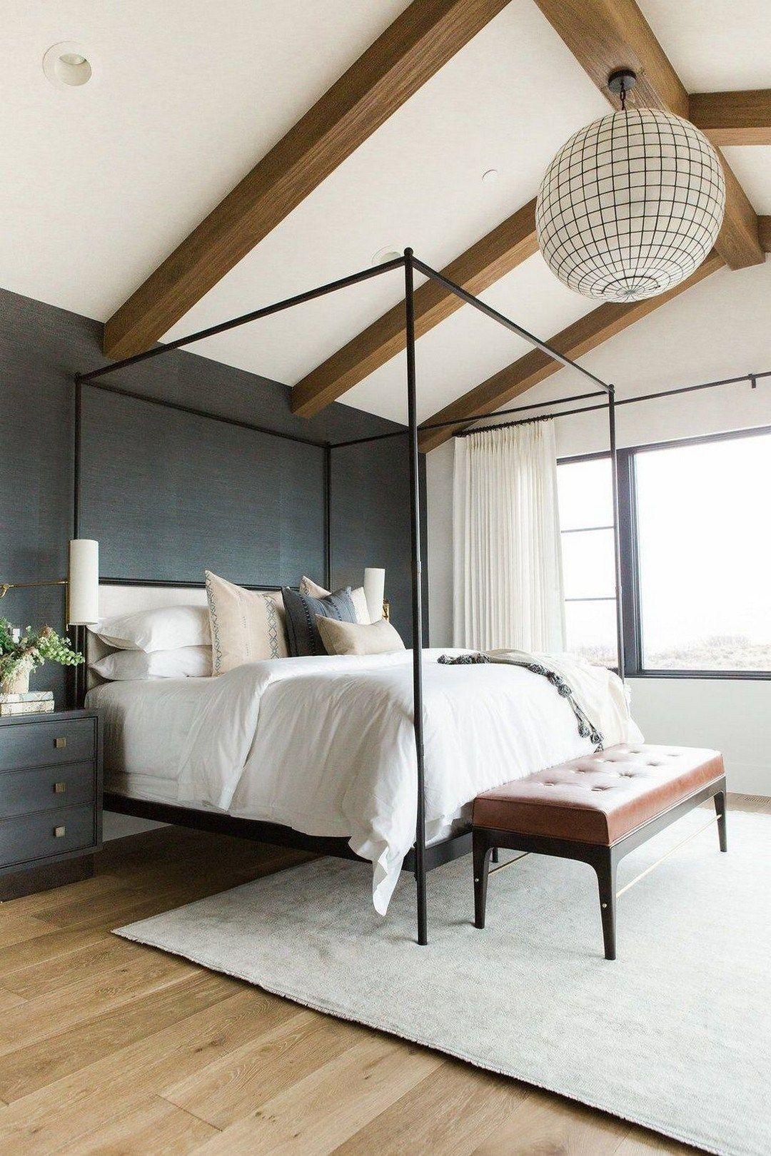Aesthetic Master Bedroom With Lighting Fixture Ideas 13 Modern Farmhouse Master Bedroom Modern Farmhouse Bedroom Home Decor Bedroom