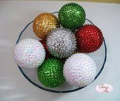 Resultado De Imagen Para Bolas De Icopor Navidenos Esferas Navidad Bolas Manualidades Navidenas