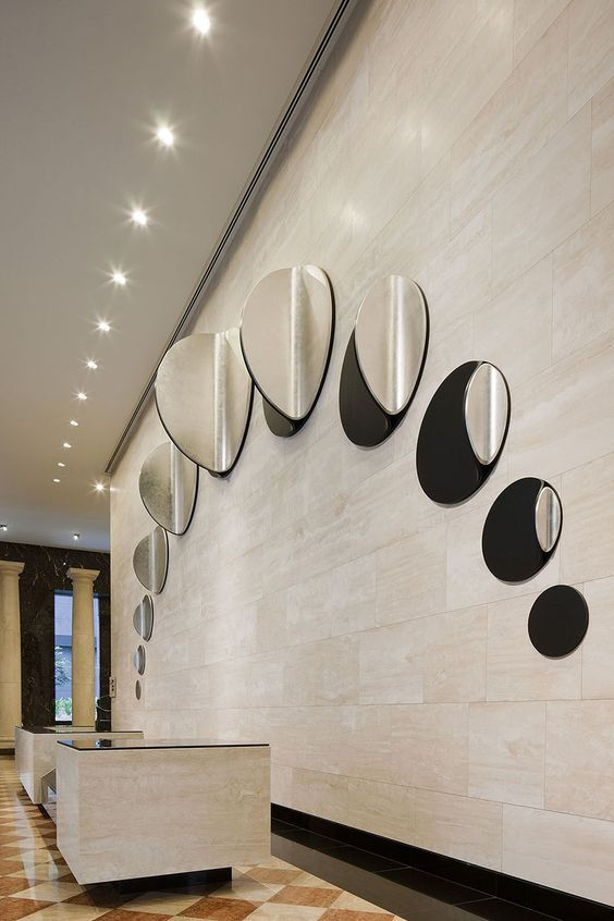 Office Reception Desk Inspiration With Images Feature Wall