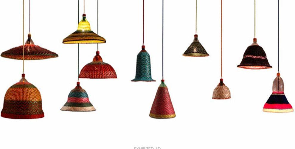 Beautiful textile lamps made from PET bottles | Disenos de