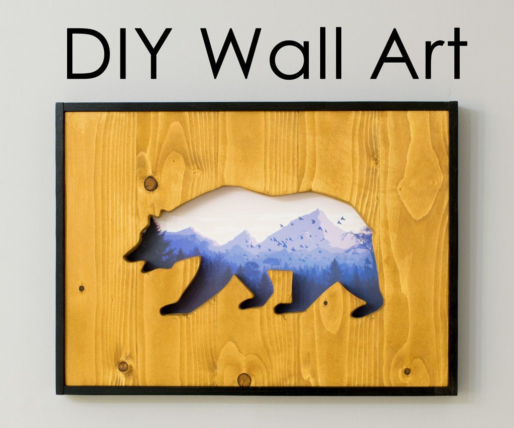 Diy wall art how to make a cutout into reclaimed wood with a