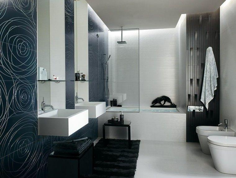 azulejos de baño color añil Baños Pinterest Azulejos de baño