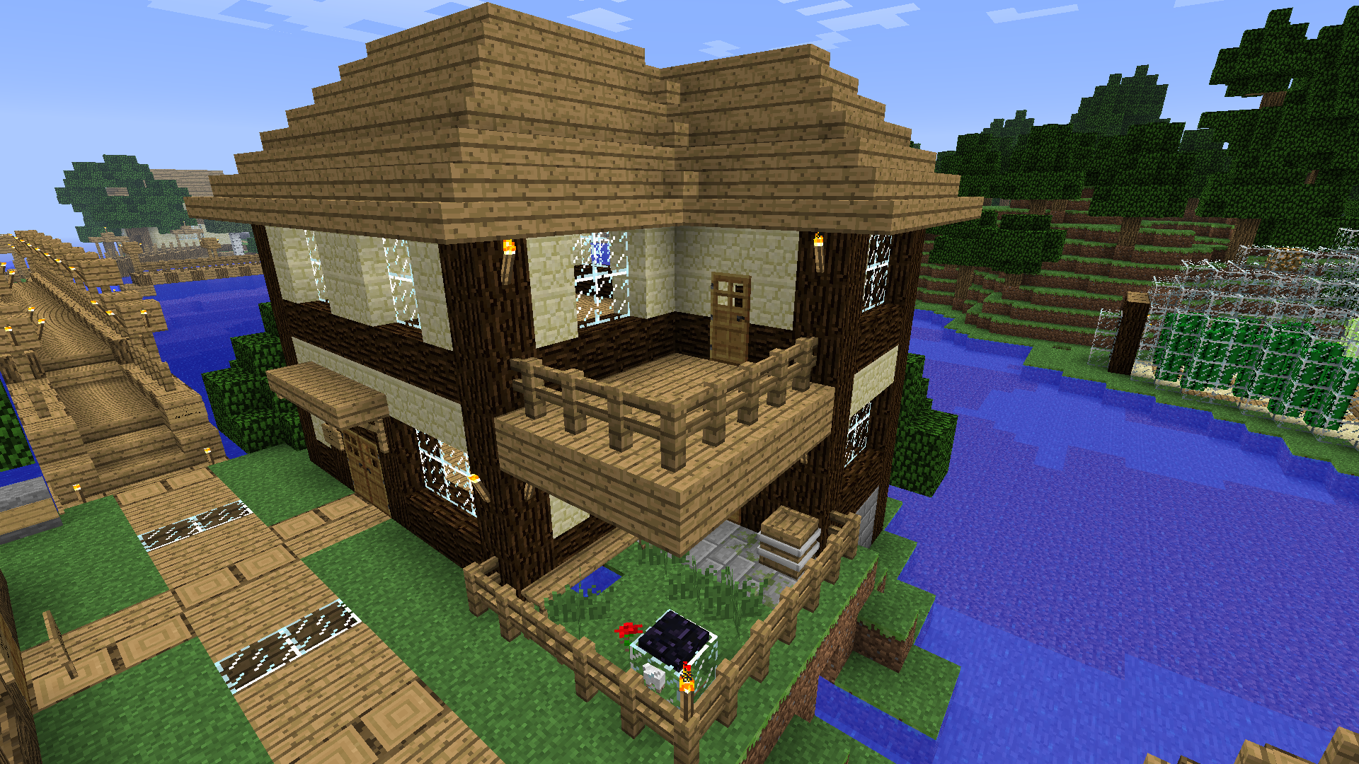 Maison Minecraft Plan The Image Kid Has It