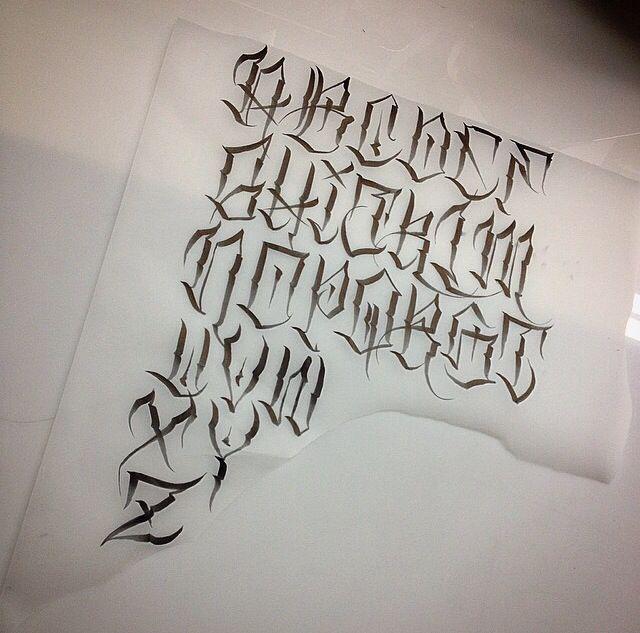 Flaks Dedicated Two Use Tattoo Fonts Alphabet Graffiti