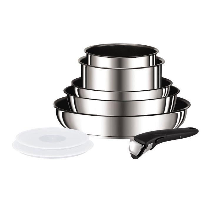 Tefal Ingenio Preference Batterie De Cuisine 8 Pièces L9409802 18 20 22 24 28cm Tous Feux Dont Induction Inox