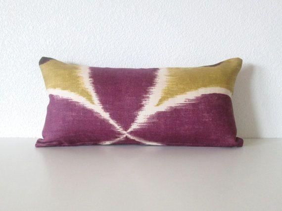 Decorative pillow cover - Mini Lumbar PIllow 8x16 - Plum ...