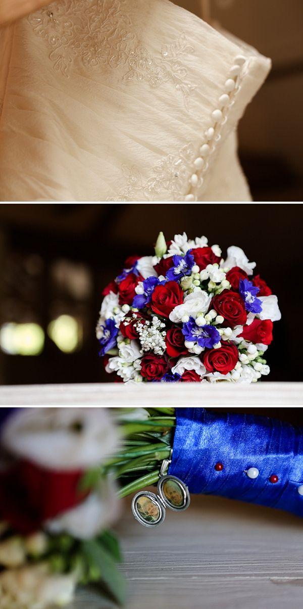 A Red, White & Blue DIY Wedding   Pinterest   Blue wedding flowers ...