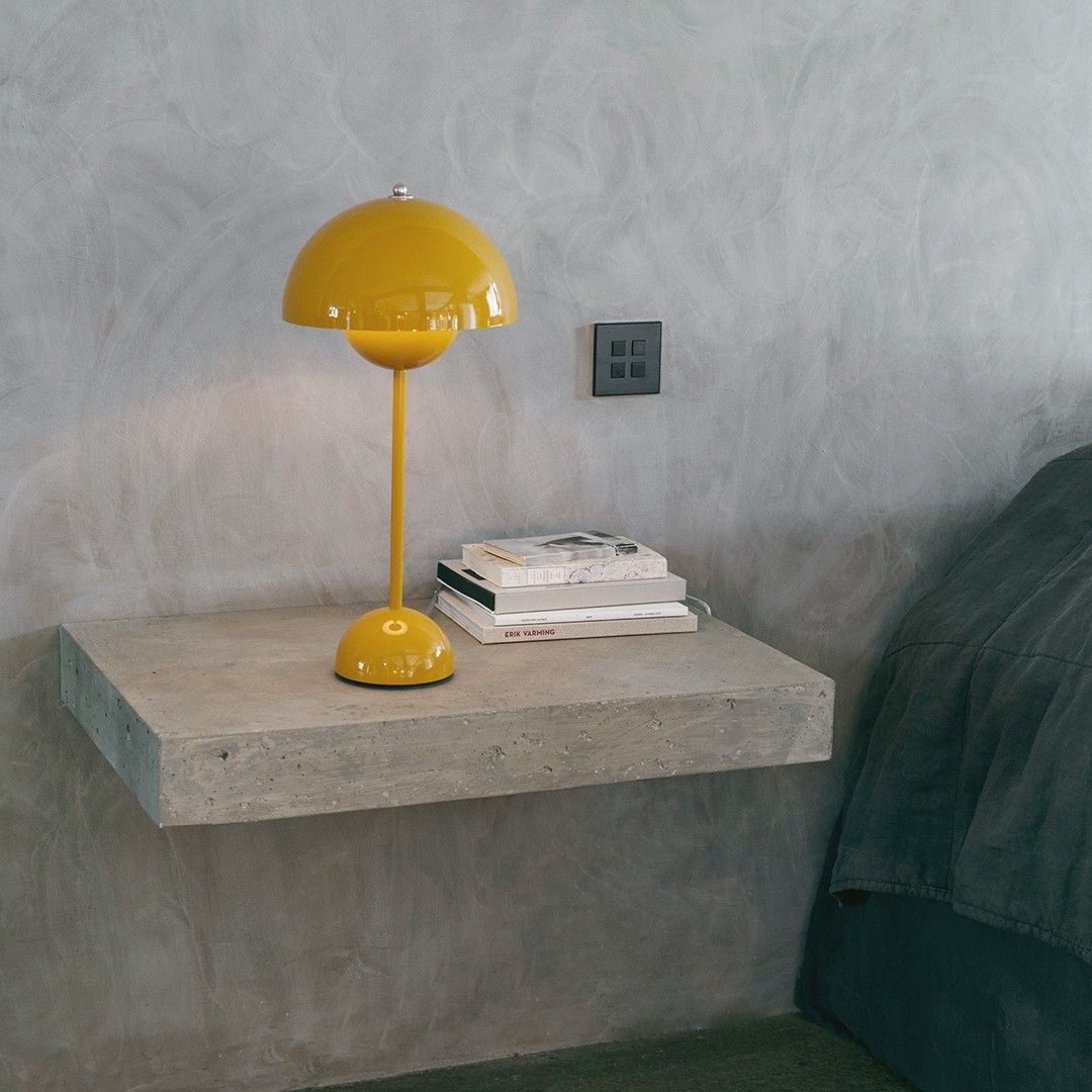 Color Of The Day Yellow Lamp Tradition Flowerpot Vp3 Mustard Yellow Which Flowerpot Color Is Y In 2020 Table Lamps For Bedroom Colorful Table Lamp Table Lamp