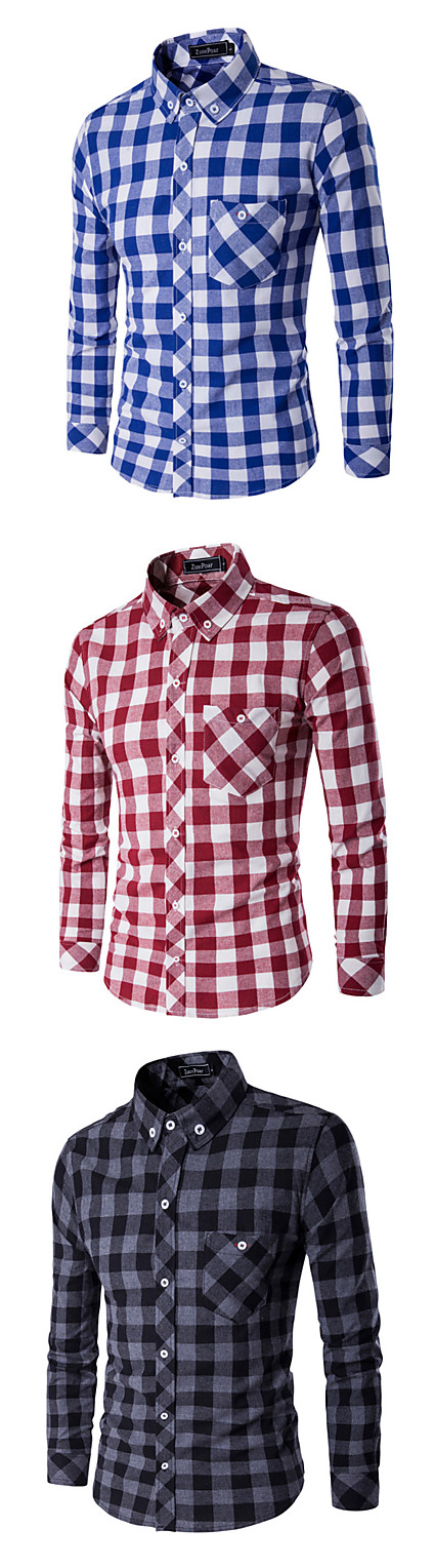 f9e880366a2 Our favorite classic check print casual long sleeve shirt. Which color  matches your clothes  Red
