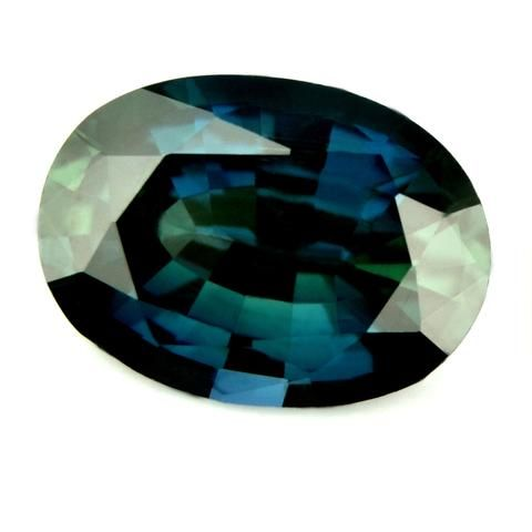 Certified Natural 0.81ct Greenish Blue Oval Sapphire - sapphirebazaar - 1