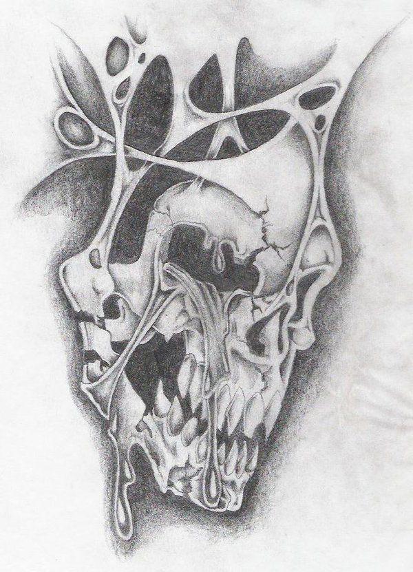 Black And White Skull Tattoo Designs Crying Skull By Markfellows Girly Skull Tattoos Skull Tattoo Design Skull Sketch