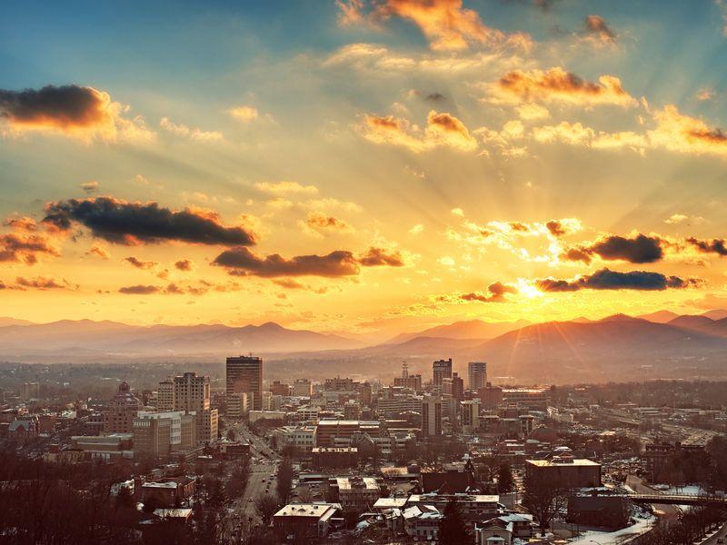 Image result for asheville nc sunrise downtown visit