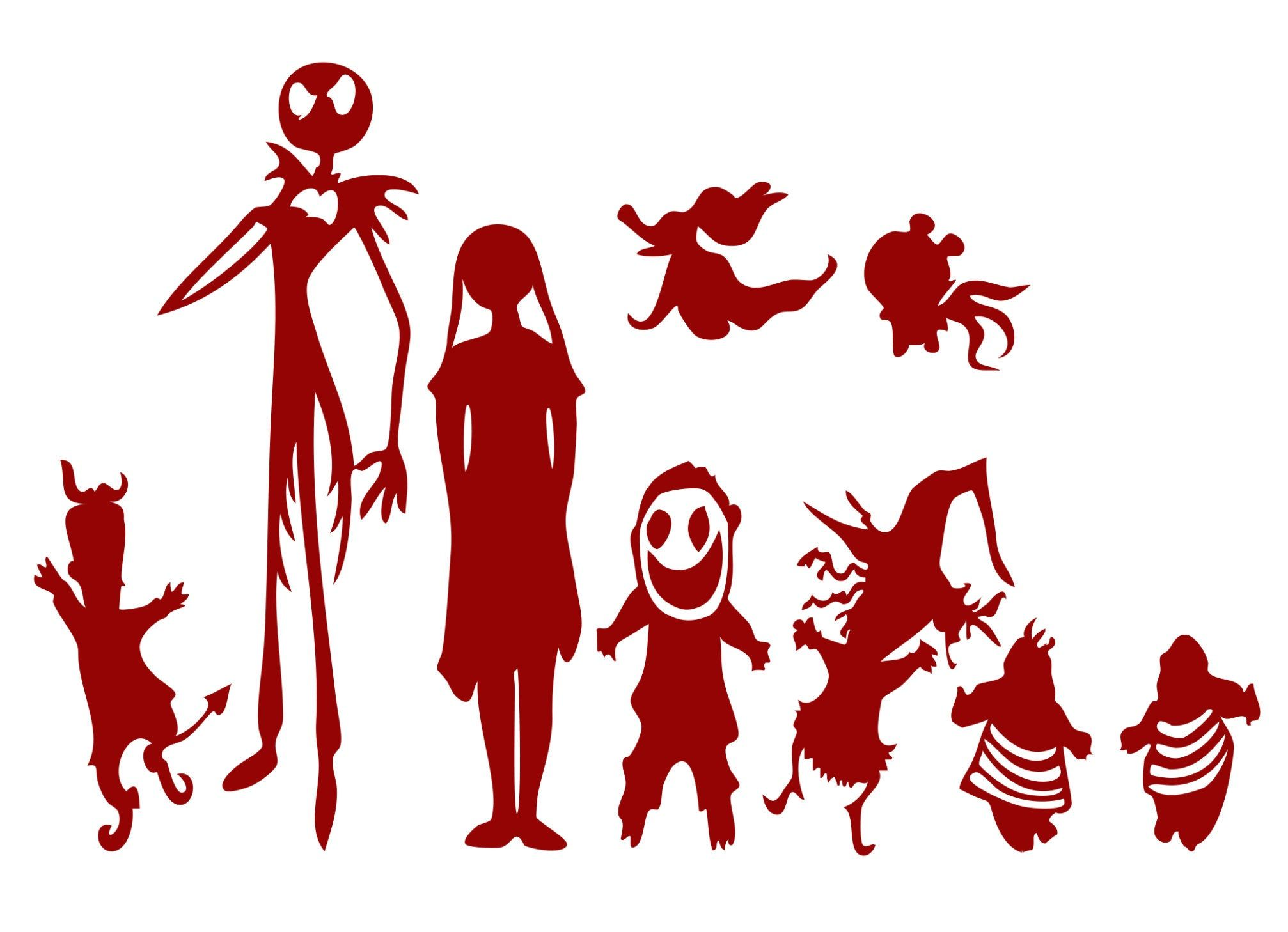 New Window Tablets 2020 Christmas Nightmare Before Christmas Decal Jack Skellington Sally Decal