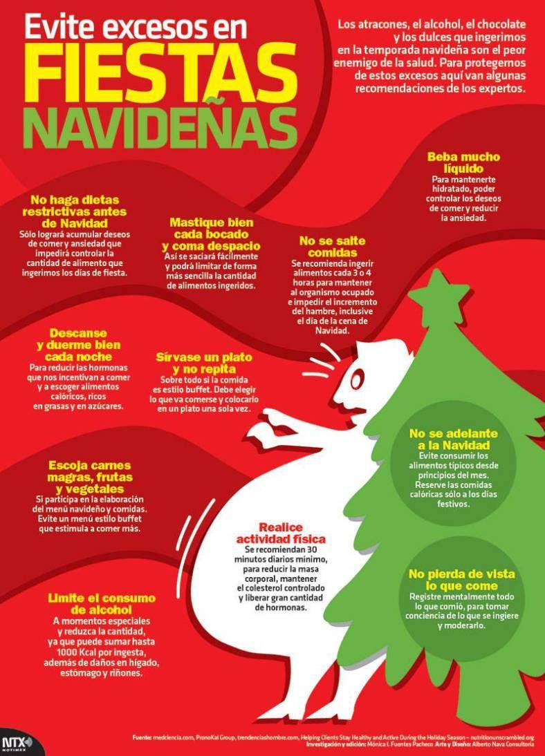 Infografía Evite excesos en fiestas navideñas | Fiestas navideñas ...
