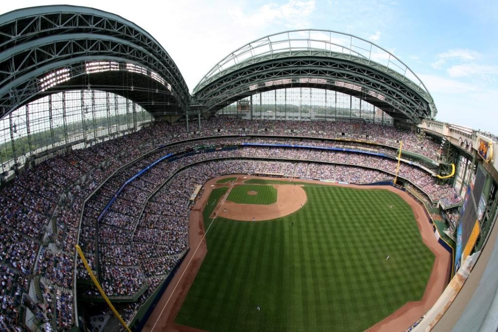 County Stadium Cait Covers The Bases Baseball Park Mlb Stadiums Milwaukee Brewers