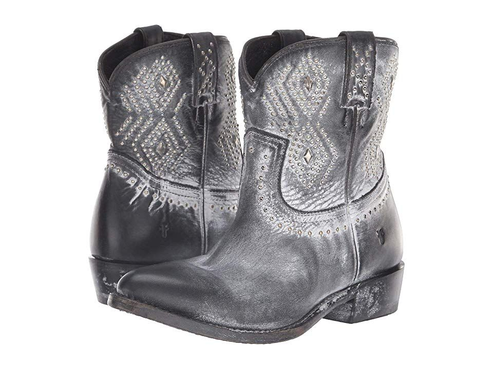 5d57394da36 Frye Billy Stud Short (Black Waxed Full Grain) Women s Boots. Be set ...