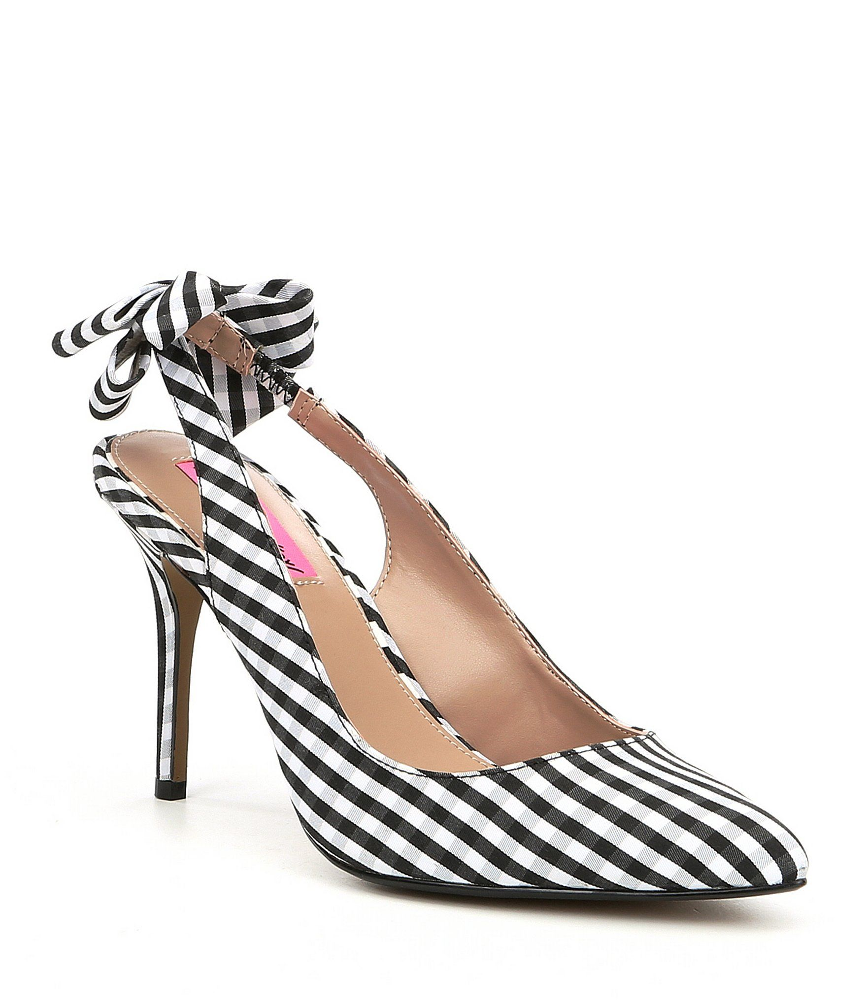 82cc9e5085b Shop for Betsey Johnson Ginjer Gingham Bow Slingback Pumps at Dillards.com.  Visit Dillards.com to find clothing