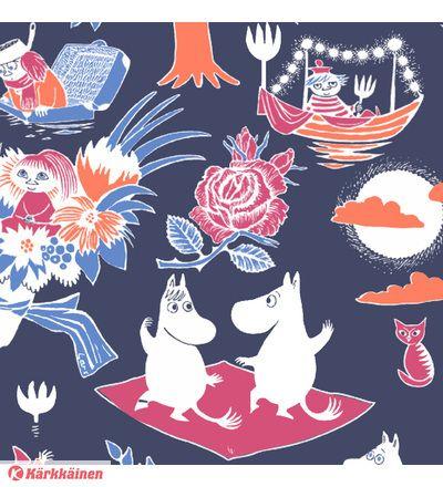 Moomin Paper Napkins Celebration Pink 20 pcs 24 x 24 cm