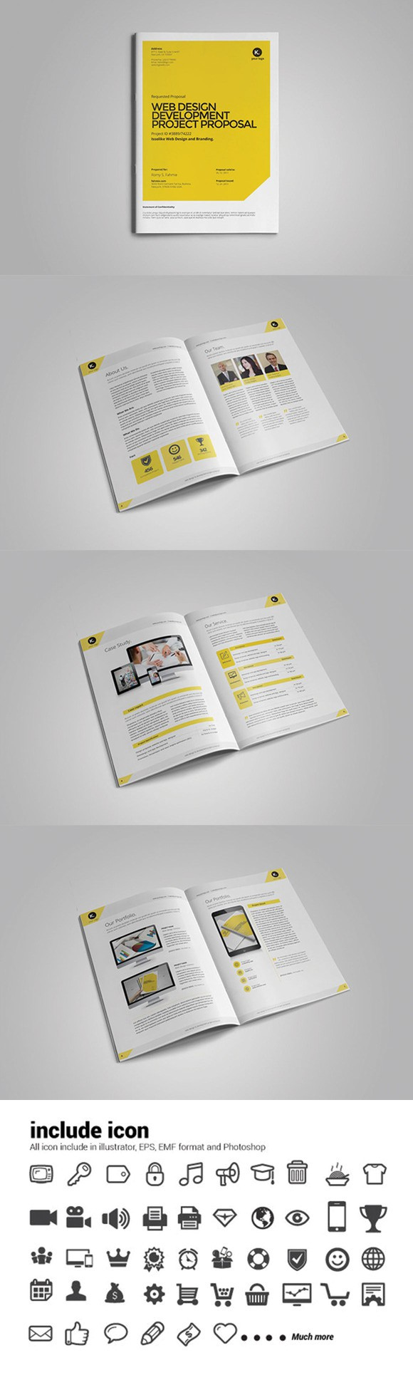Web Design Proposal Stationery Templates   Stationery
