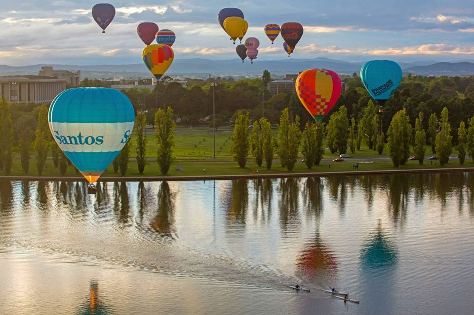 Balloon festive in Canberra out Australia's Capital City