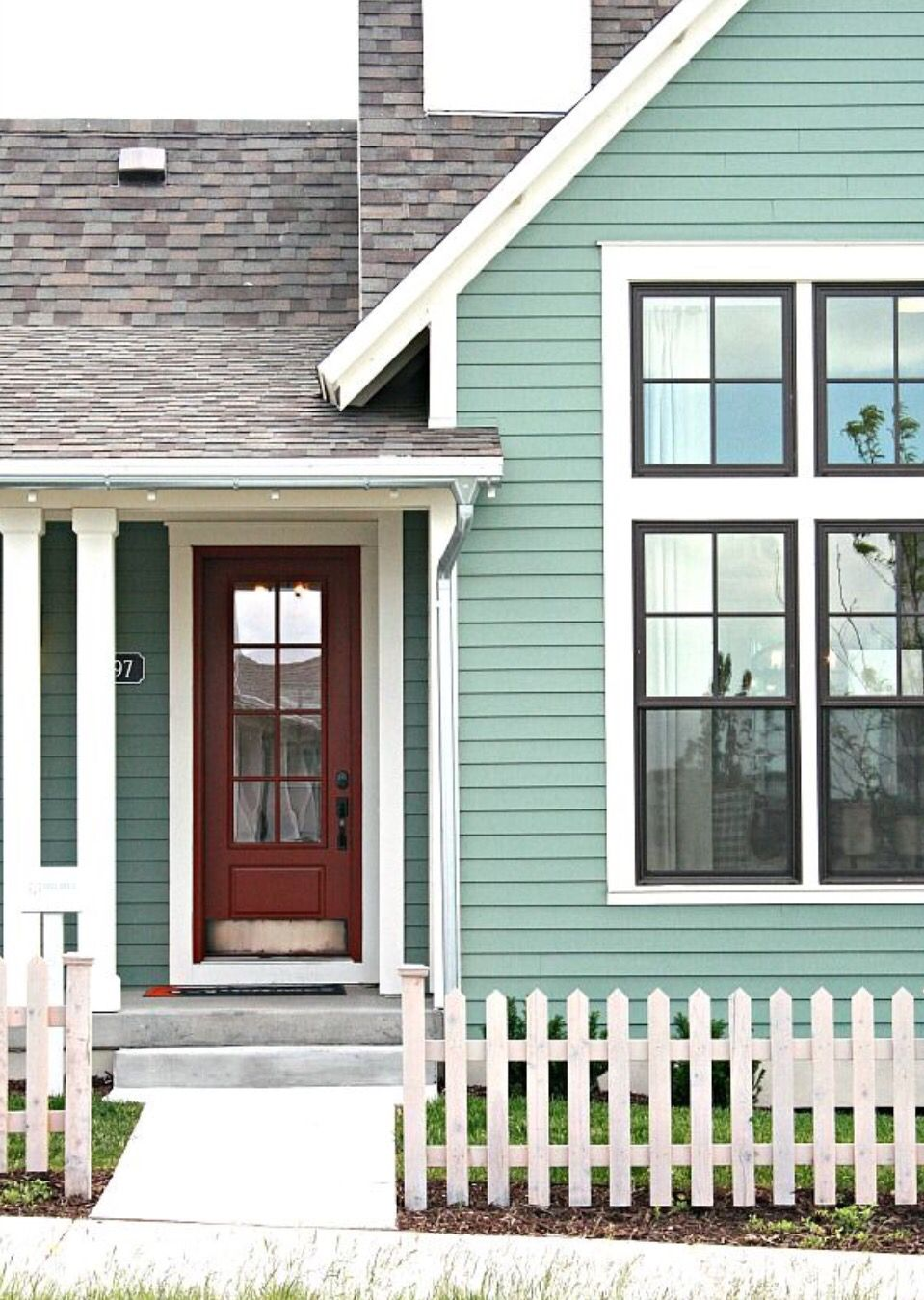 Exterior house colors cottage - Find This Pin And More On Shabby Mint Cottage Pretty Exterior Color