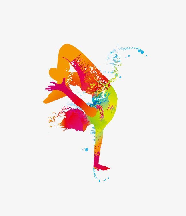 Hip Hop Silhouette Figures, Hip Hop, Color, Dancing PNG ...