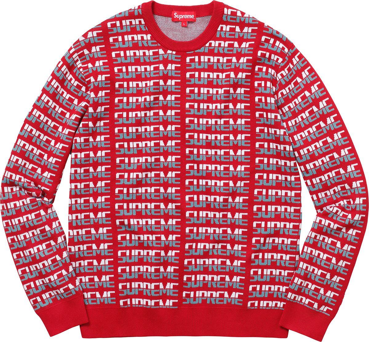 Supreme Repeat Sweater | Clothing stuff | Pinterest