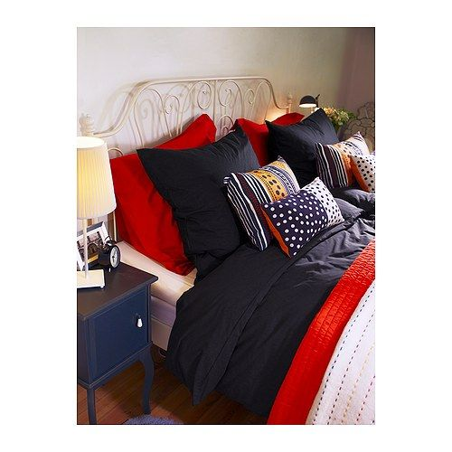 dvala housse de couette et 2 taies ikea les boutons pression cach s maintiennent la couette bien. Black Bedroom Furniture Sets. Home Design Ideas