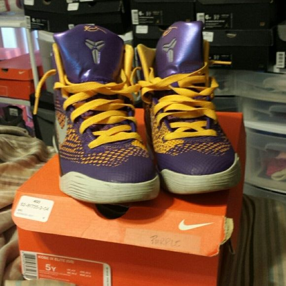 Kobe 9 Purple & Gold Laker Sneakers In excellent condition,  original box included Nike Shoes Sneakers